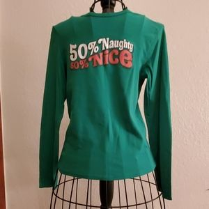 Old Navy Green Perfect Fit Long Sleeve Tee Shirt L